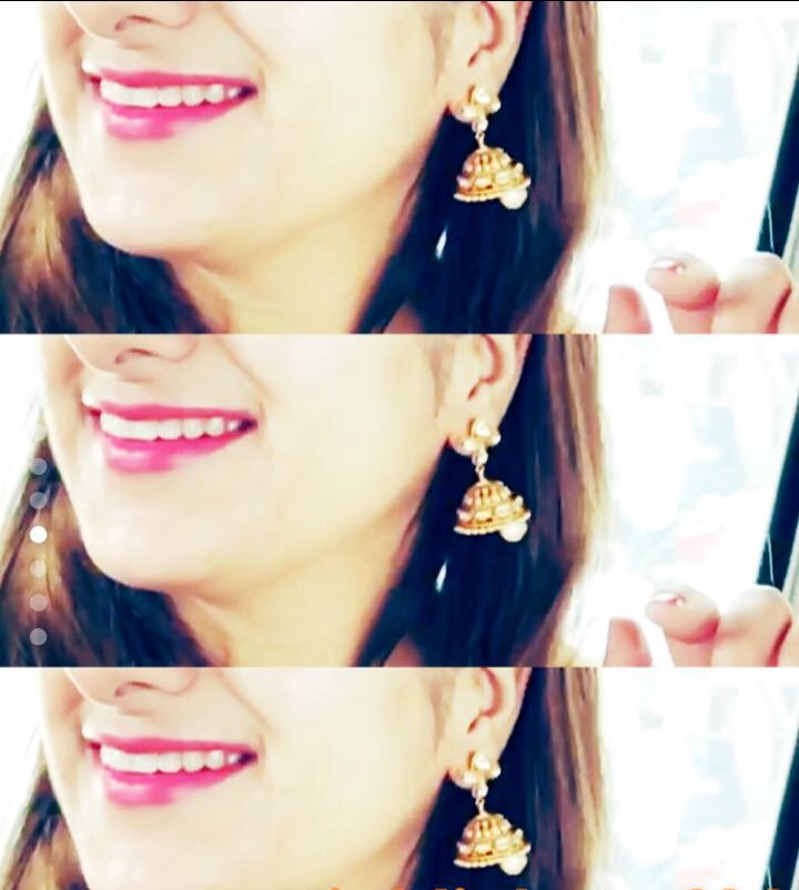 Jhumkis- My traditional side!