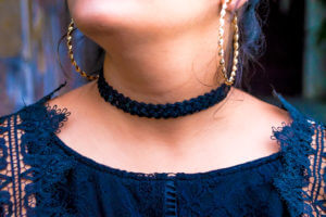 black sequins choker