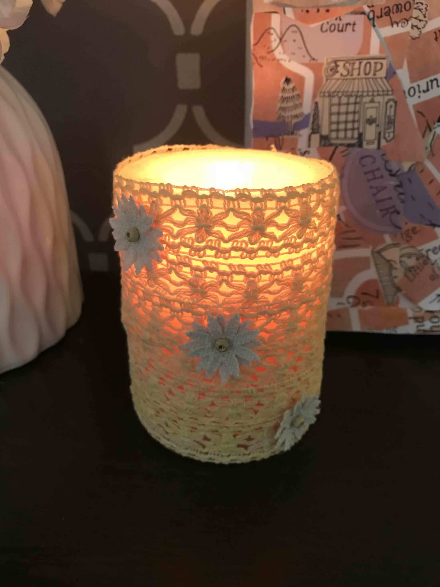 How To Decorate A Candle At Home Diy